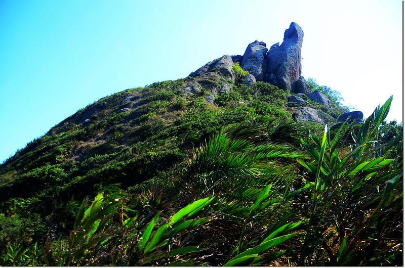 小尖石山北尾稜向南仰望小尖石山
