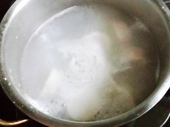 banana boiled with coconut juice