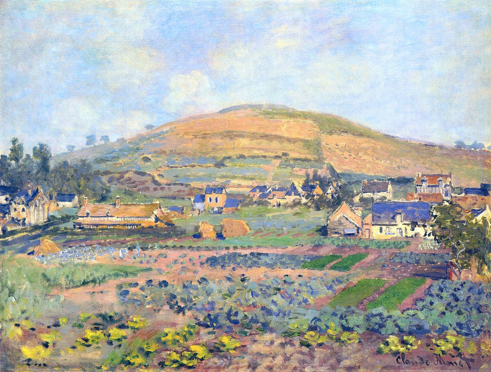 The Mount Riboudet in Rouen at Spring by Claude Monet, 1872
