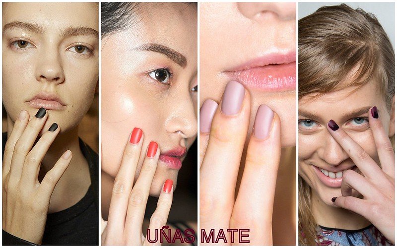 Tendencias de uñas: uñas Mate