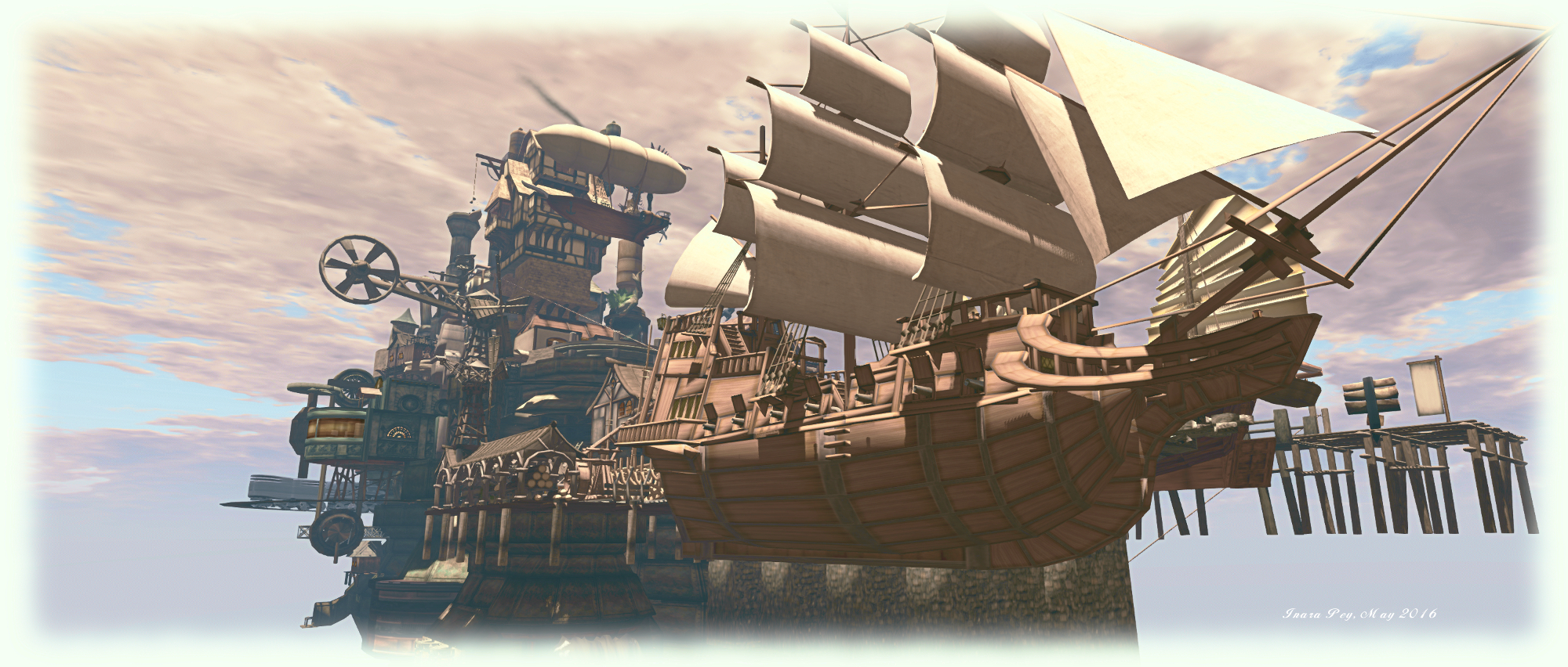Airship Pirates Town; Inara Pey, May 2016, on Flickr