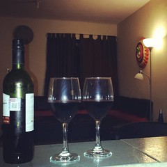 Wine for two.
