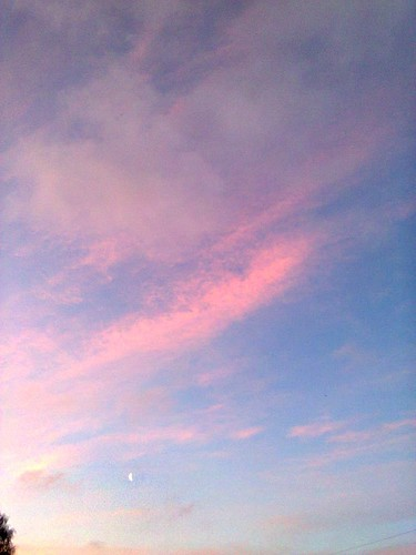 morning pink sky moon nature clouds sunrise