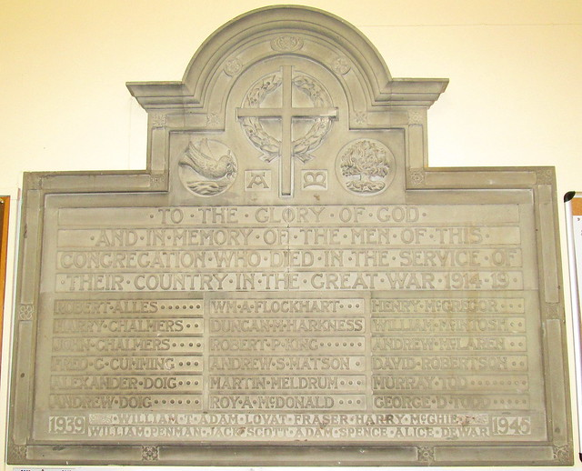 Kinross Parish Church Memorial Plaque