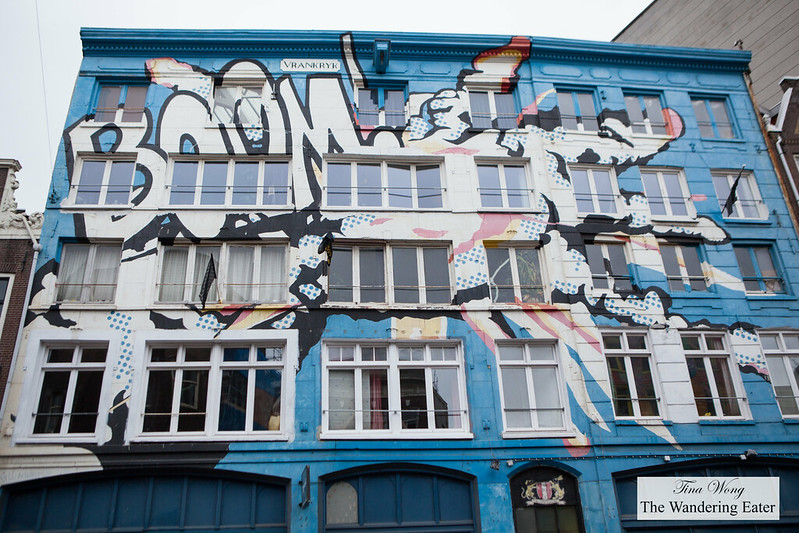Graffiti on a building in Centre Amsterdam