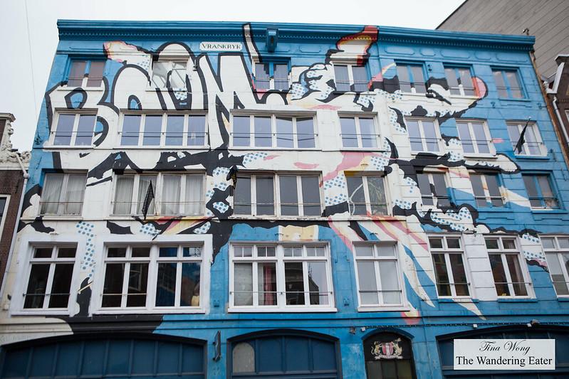 Graffiti on a building in Centre Amsterdam