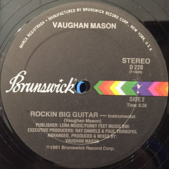 VAUGHAN MASON:JAMMIN BIG GUITAR(LABEL SIDE-B)