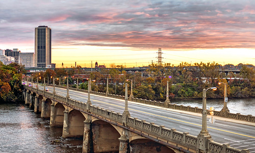 city bridge sunrise rva