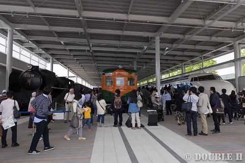 Kyoto Railway Museum (3) promenade / C62-2-26, Kuha86-1, 0 Series 21-1
