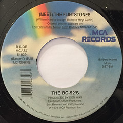 THE BC-52'S:(MEET) THE FRINTSTONES(LABEL SIDE-B)