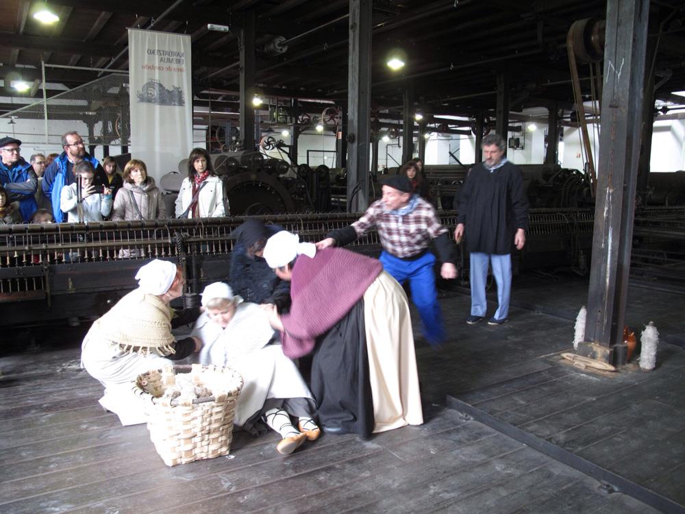 visita teatralizada_fabrica boinas la encartada_balmaseda_1918_condiciones sociales y laborales