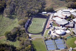 2010-09-29 AHS Aerial Football Field and Ames High School pool tennis courts and courtyard w permission Snyder & Associates Inc.jpg