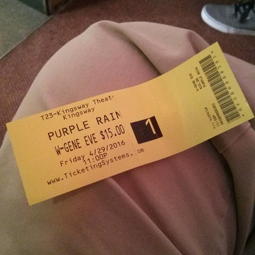 Ticket #toronto #prince #purplerain #kingswaytheatre #kingswaytheater #tickets