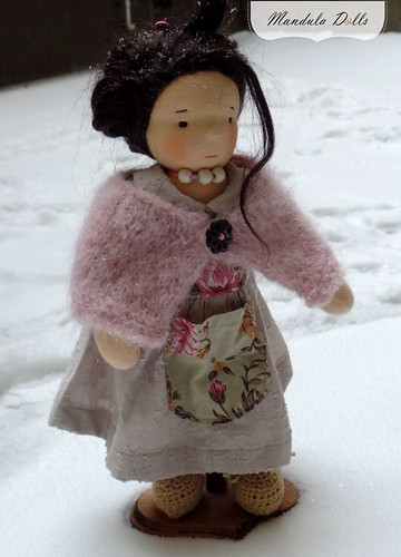 Liza 35cm waldorf style doll with weft mohair hair_1
