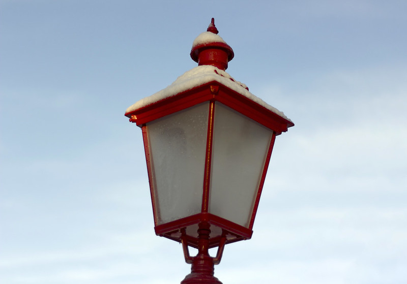 Red Lamp Post