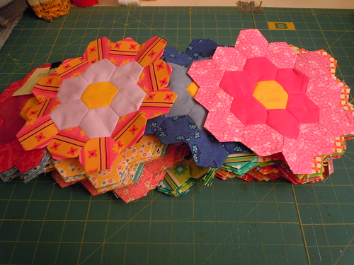 75 flowers finished! Time to put it together