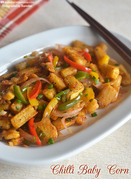Baby Corn Chilli Recipe
