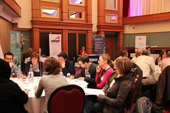Delegates discuss their ideas
