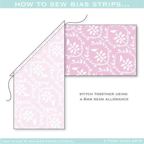 How to sew bias strips