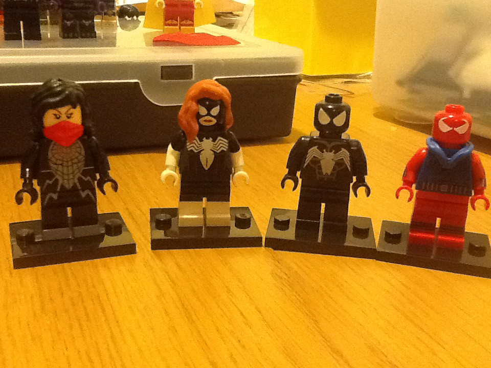 Silk, Spider-Woman, Spider-Man and the Scarlet Spider!