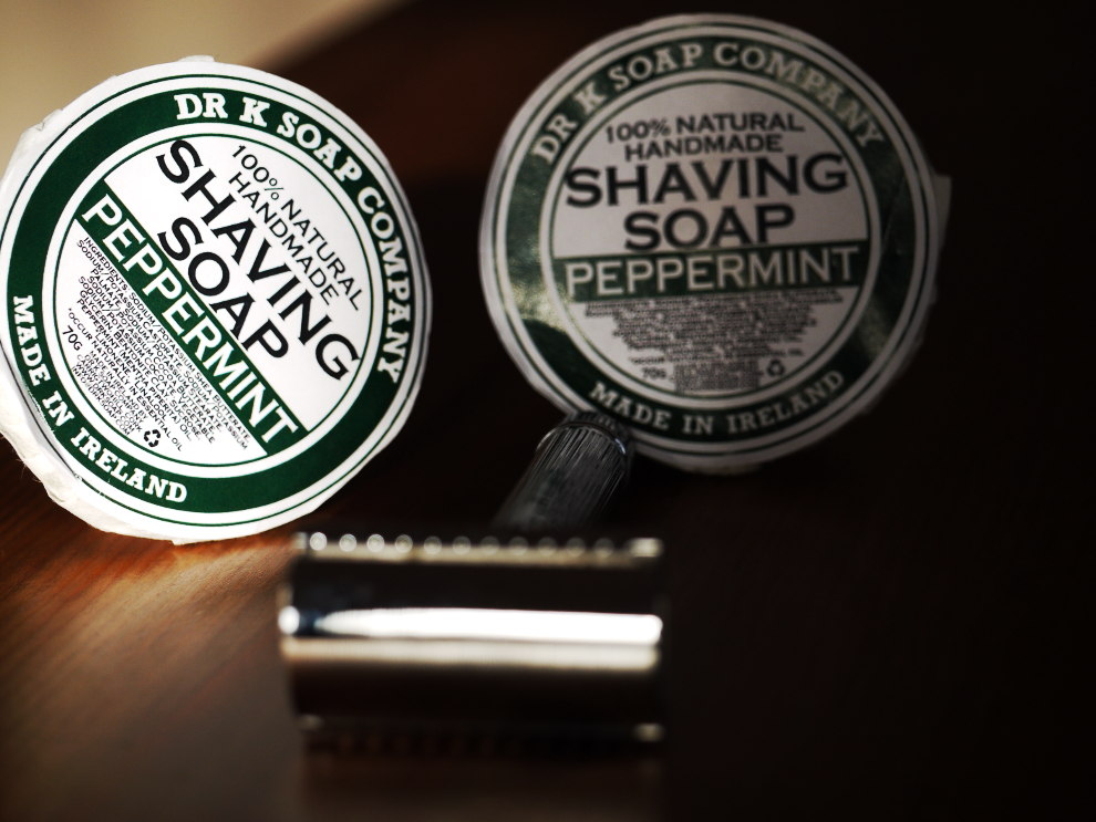 edwin jagger razor & dr. k shaving soap