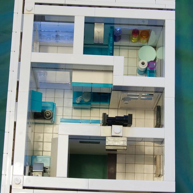 3 modulare h user alt modern mit kwik e mart tbbt und mehr lego bei for Modernes lego haus