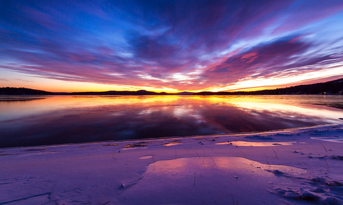 morning winter sky sun lake snow cold ice water weather clouds sunrise frozen newengland newhampshire nh lakewinnipesaukee robertallanclifford robertallancliffordcom