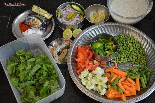 veg biryani in pressure cooker-1