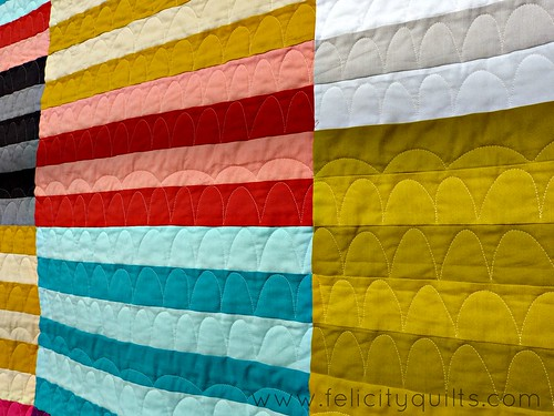 Modern Stripes quilting