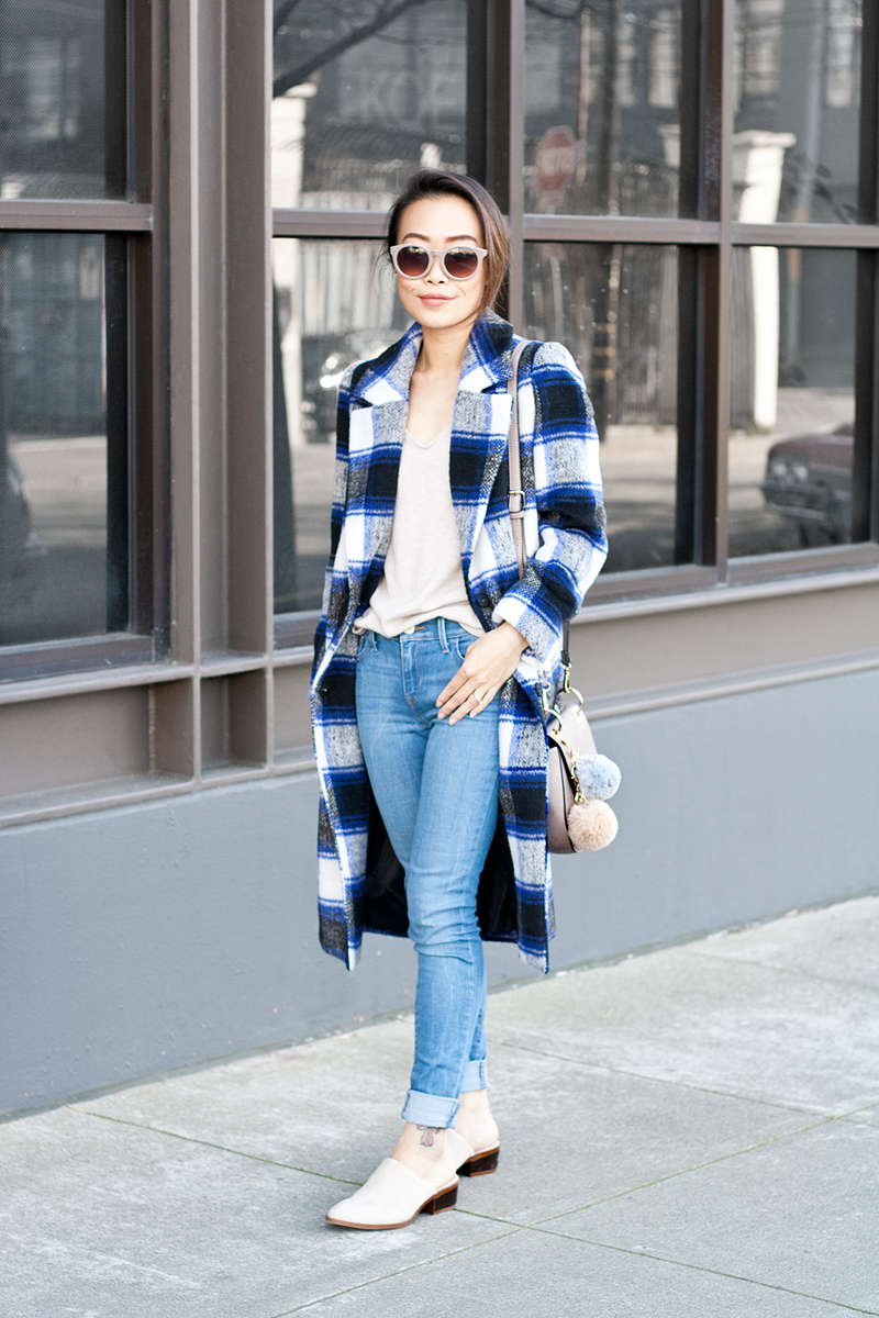 05plaid-checkers-coat-denim-mules-pompoms-sf-style-fashion