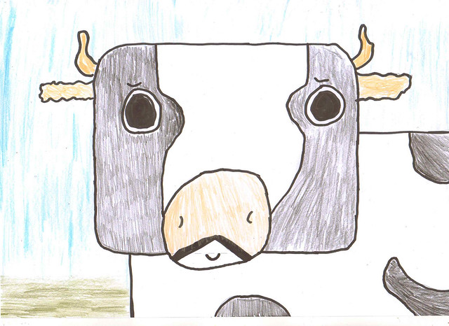 rectangle cow - r