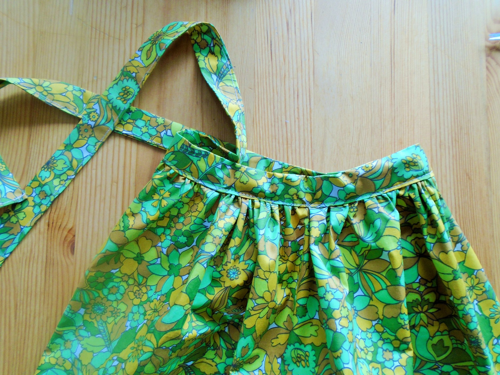 little apron waistband sewn