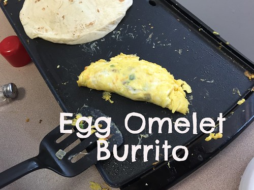 Teens making egg omelet burrito at Inspirations Youth rehab