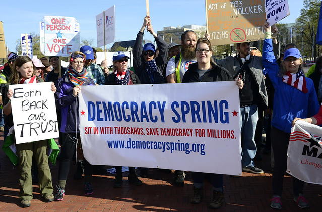 Democracy Spring March Arrives In DC 23