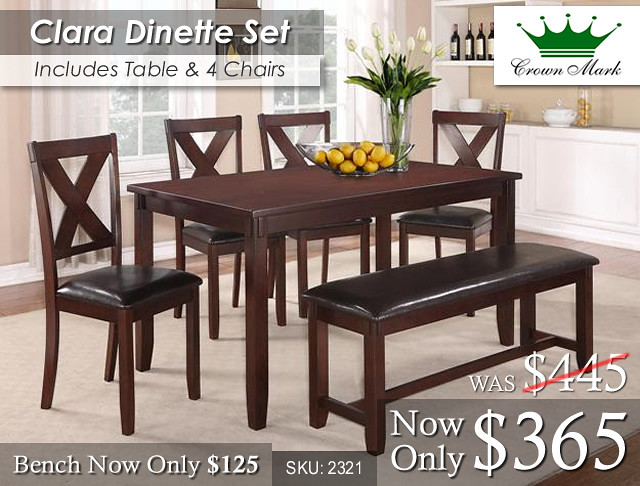 Clara Dinette Set Fixed