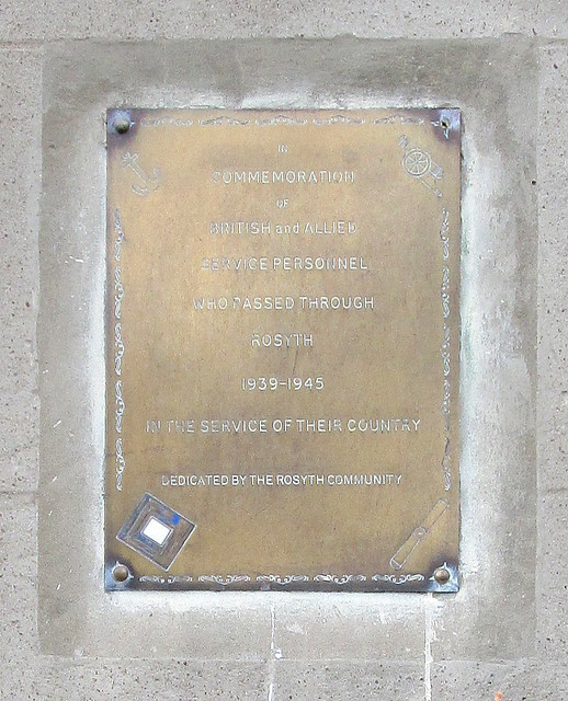 Plaque to Users, Ex-Servicemen's Club, Rosyth