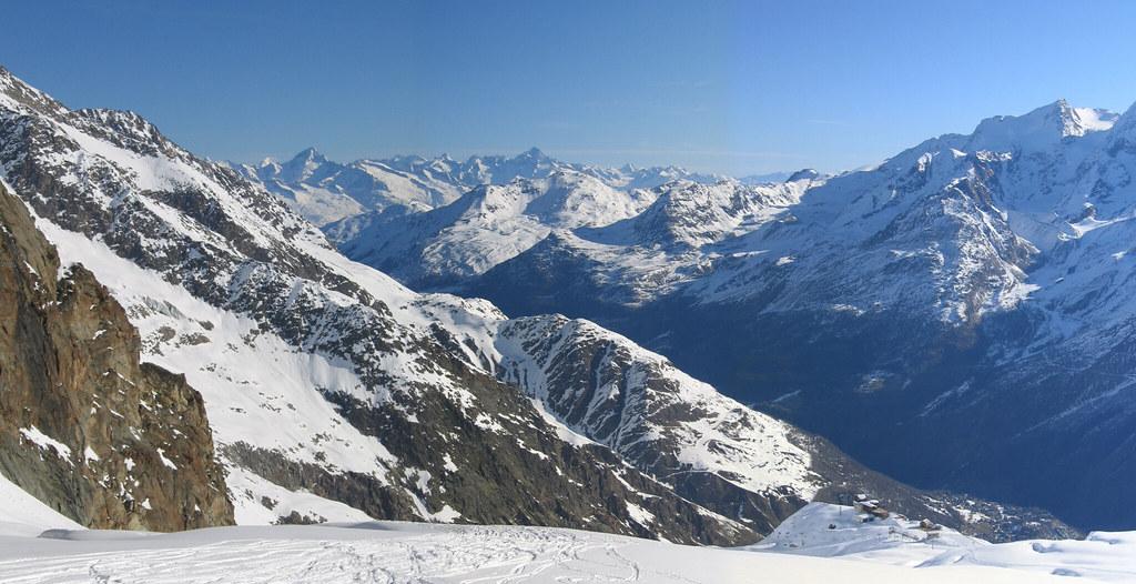 Strahlhorn Walliser Alpen / Alpes valaisannes Schweiz foto 01