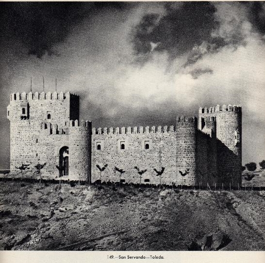 Castillo de San Servando en los años 50. Fotografía de José Ortíz Echagüe.