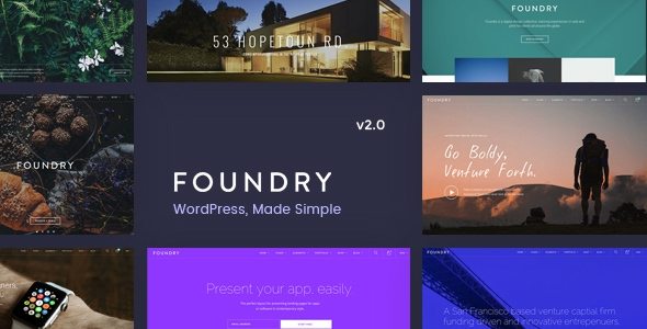 Foundry v2.0.8 - Multipurpose, Multi-Concept WP Theme