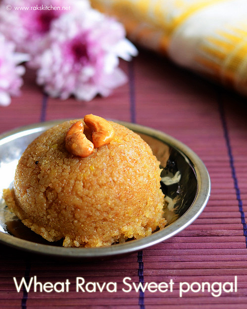 wheat-rava-sweet-pongal
