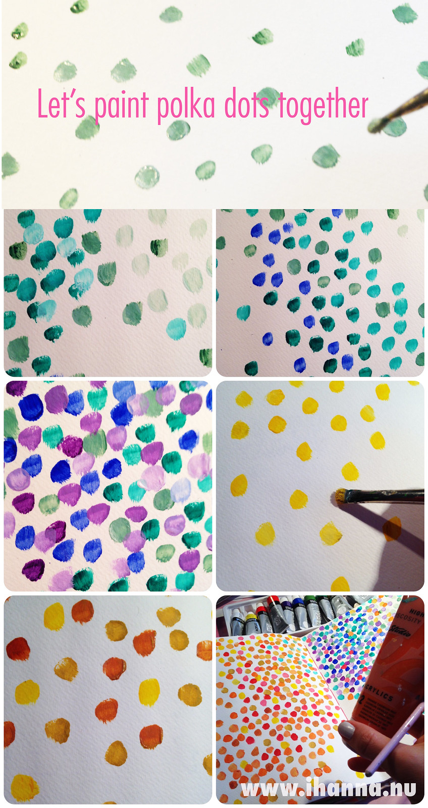 Polka Dot Prompt: Let's paint together - art journal prompt by @iHanna