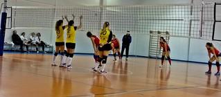 Le ragazze di Prima Divisione durante il match contro il Canosa