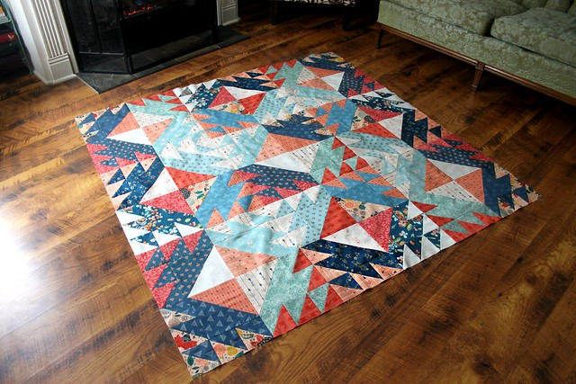 Diamond Weave Quilt Top Finish