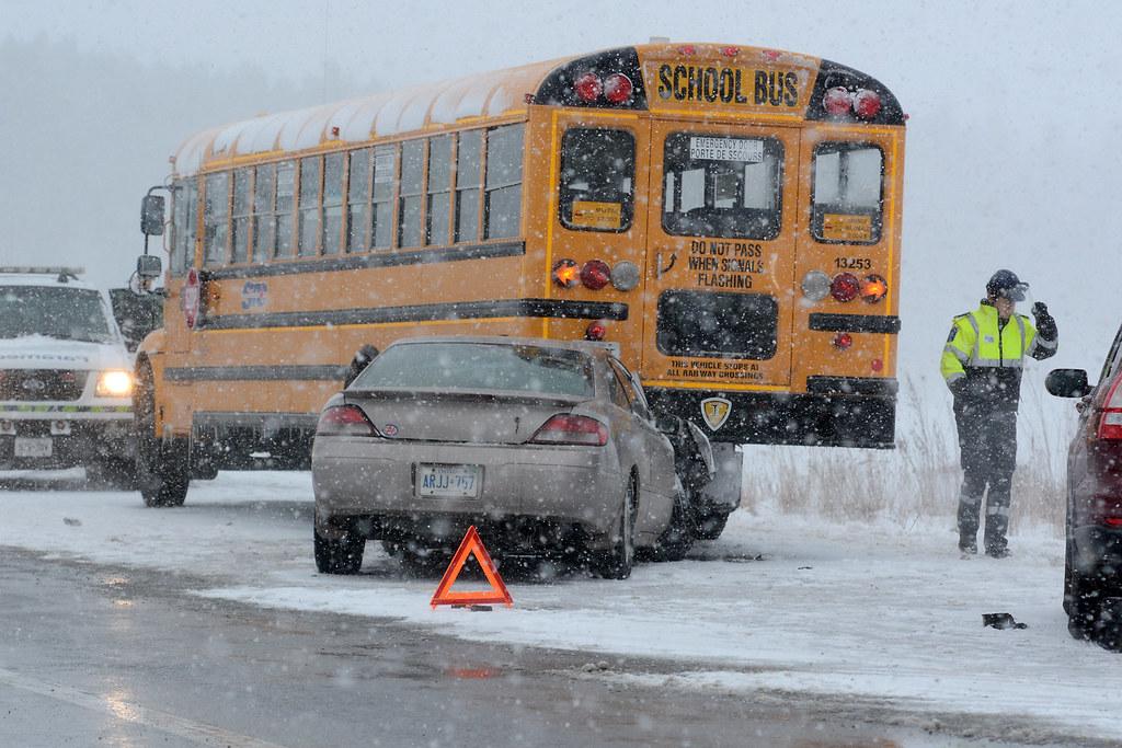 School bus crash - Wainfleet