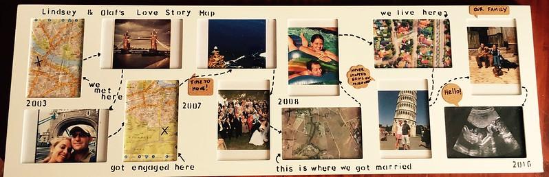 My valentine love story map idea