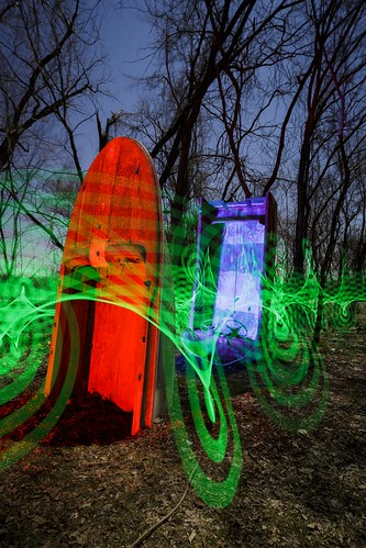 Notley Hawkins Photography, Missouri Photo, Night Photography, boat, Boathenge, Light Painting, Easley Missouri