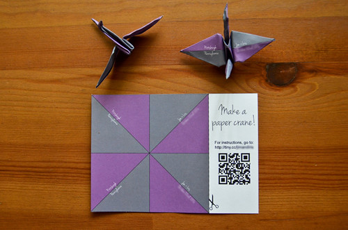 Designing Save the Date Postcards for Origami!