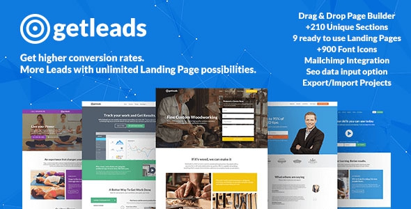 ThemeForest Getleads v1.2 - Landing Page Pack with Page Builder