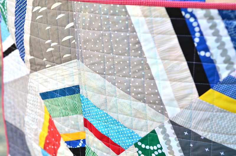 octagon shimmer baby quilt