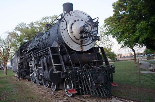 park usa train texas tx unitedstatesofamerica locomotive cleburne buffalocreek johnsoncounty santaferailroad hulenpark countryclubroad steamengine3417 westwesthilldrive